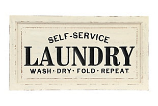 "Creative Co-Op ""Laundry"" Wooden Plaque, , large"