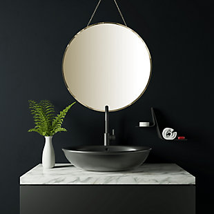 Creative Co-Op Round Frameless Wall Mirror with Decorative Chain, , rollover