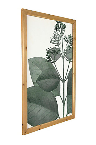 Creative Co-Op Wood Framed Green Botanical Wall Decor (Set of 4 Designs), , large