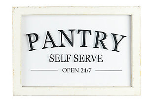 Creative Co-Op Distressed Wood Framed Pantry Sign, , large