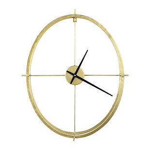 Creative Co-Op Double Frame Round Clock, Gold, , large
