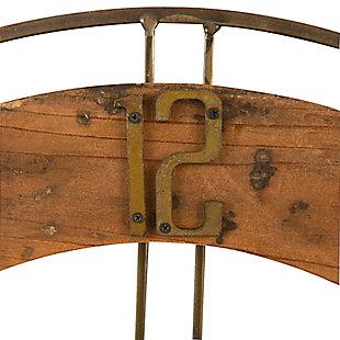 Creative Co-Op Metal and Fir Wood Dia Wall Clock, , large