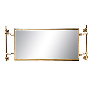Creative Co-Op Iron and Glass Reflective Wall Mirror, , large