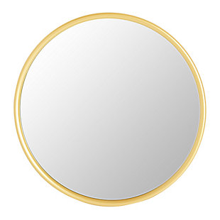 Creative Co-Op Round Metal Wall Mirror, Gold Finish, , large