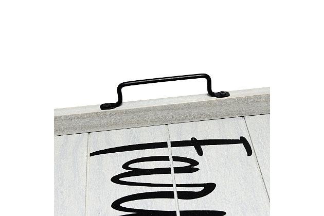 "Elegant Designs Decorative ""Farm Fresh"" Wood Serving Tray, , large"