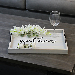 "Elegant Designs Decorative ""Gather"" Wood Serving Tray, , rollover"