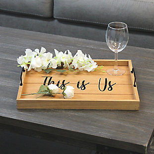 "Elegant Designs Decorative ""This Is Us"" Wood Serving Tray, , rollover"