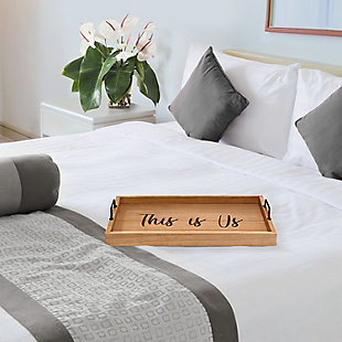 "Elegant Designs Decorative ""This Is Us"" Wood Serving Tray, , large"