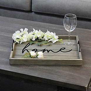 "Elegant Designs Decorative ""Home"" Wood Serving Tray, , rollover"