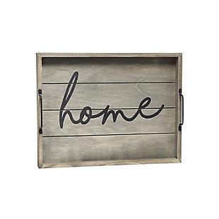 "Elegant Designs Decorative ""Home"" Wood Serving Tray, , large"