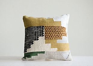 Creative Co-Op Handwoven Wool Kilim Throw Pillow, , rollover