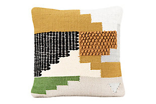 Creative Co-Op Handwoven Wool Kilim Throw Pillow, , large
