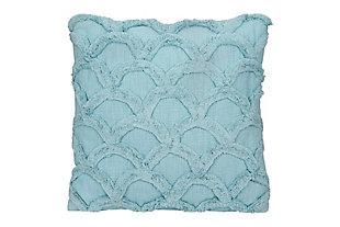 Creative Co-Op Cotton Chenille Throw Pillow, Light Blue, large