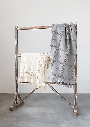Creative Co-Op Fringed Cotton Chenille Throw, , rollover