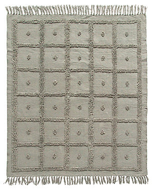 Creative Co-Op Fringed Cotton Chenille Throw, , large
