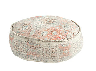 Creative Co-Op Heavily Distressed Cotton Pouf, , large