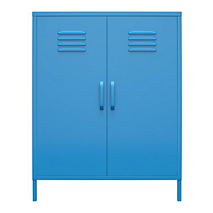 Novogratz Cache 2-Door Metal Locker Accent Cabinet, Blue, large