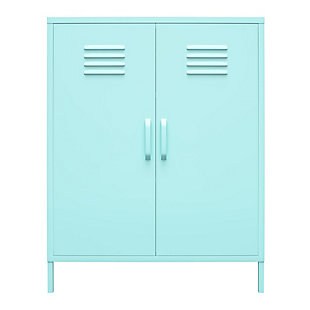 Novogratz Cache 2-Door Metal Locker Accent Cabinet, , large