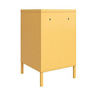 Novogratz Cache Metal Locker End Table, Yellow, large