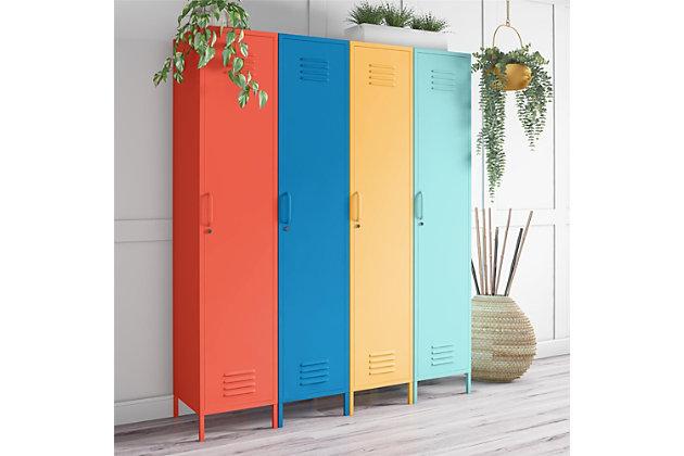 Novogratz Cache Single Metal Locker Storage Cabinet, , large