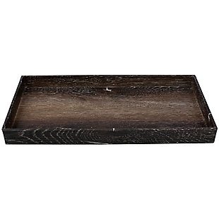 Antique Wood Look Farmhouse Plastic Decorative Tray, , large