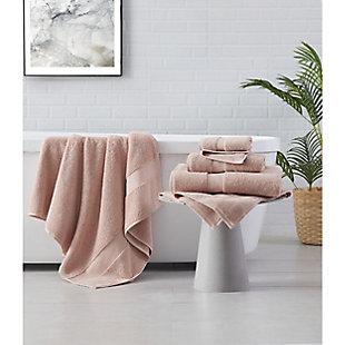 Brooklyn Loom Solid Turkish Cotton 6 Piece Towel Set in Blush, Blush, large