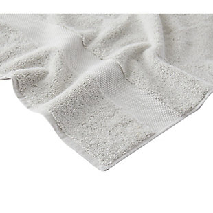 Brooklyn Loom Solid Turkish Cotton 6 Piece Towel Set in Gray, Gray, large