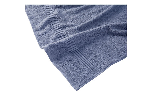 Truly Calm Antimicrobial 6 Piece Towel Set in Blue, Blue, large