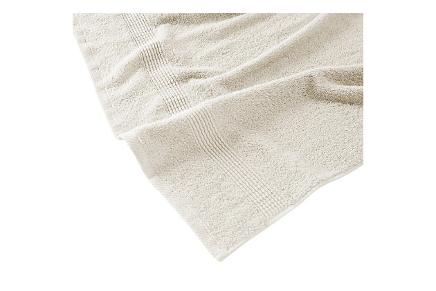 Truly Calm Antimicrobial 6 Piece Towel Set in Ivory, Ivory, large