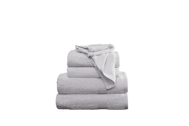 Truly Calm Antimicrobial 6 Piece Towel Set in Light Gray, Light Gray, large