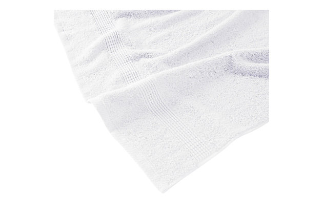 Truly Calm Antimicrobial 6 Piece Towel Set in White, White, large