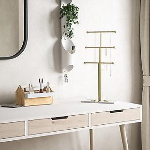 Umbra Trigem White Brass Jewelry Stand, , rollover