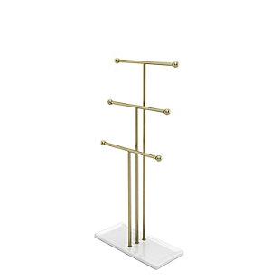 Umbra Trigem White Brass Jewelry Stand, , large