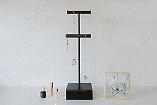 Umbra Pillar Black Jewelry Stand, , rollover