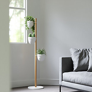 Umbra Floristand White Planter, , rollover