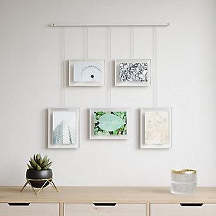 Umbra Exhibit White Photo Display (5 Pictures), , rollover
