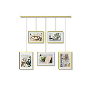 Umbra Exhibit Brass Photo Display (5 Pictures), , large