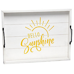 "Elegant Designs Decorative ""Hello Sunshine"" Wood Serving Tray, , large"