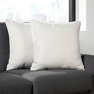 OFM 161 Collection Mid Century Modern 2-Pack Accent Pillows, Beige, rollover