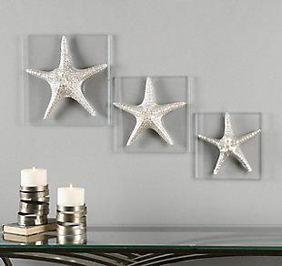 Uttermost Silver Starfish Wall Art, Set of 3, , rollover
