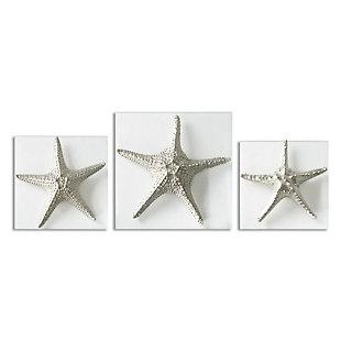 Uttermost Silver Starfish Wall Art, Set of 3, , large