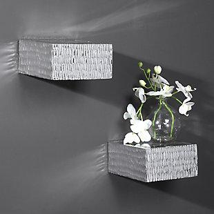 Uttermost Jessamine Silver Wall Shelves, Set of 2, , rollover
