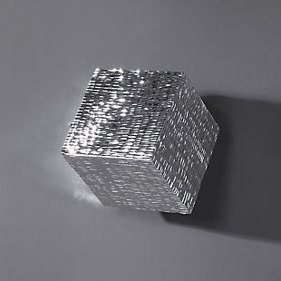 Uttermost Jessamine Silver Wall Cube, , rollover