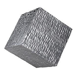 Uttermost Jessamine Silver Wall Cube, , large