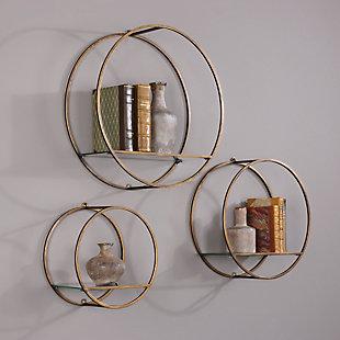 Uttermost Ellison Drum Cage Shelves Set of 3, , rollover