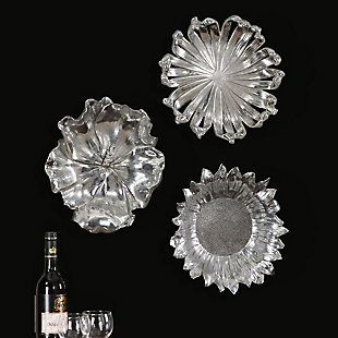 Uttermost Silver Flowers Wall Art, Set of 3, , rollover