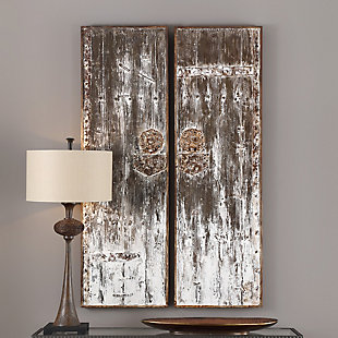 Uttermost Giles Aged Wood Wall Art, Set of 2, , rollover