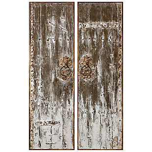 Uttermost Giles Aged Wood Wall Art, Set of 2, , large