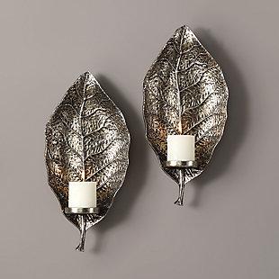 Uttermost Zelkova Leaf Wall Sconces Set of 2, , rollover