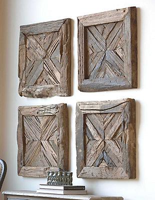 Uttermost Rennick Reclaimed Wood Wall Art, , rollover